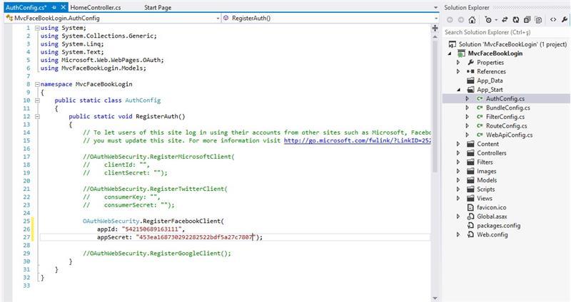 ASP.NET MVC 4.0 Facebook Login | ASP.NET MVC | ASP.NET MVC ...